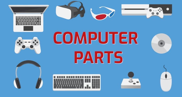 Computer Parts (Hardware) Vocabulary in English – With Games and Pictures