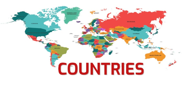 Countries Vocabulary in English – With Pictures Pronunciations and Games