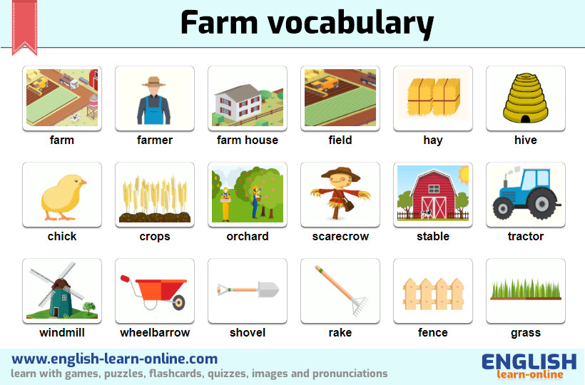 farm life vocabulary image