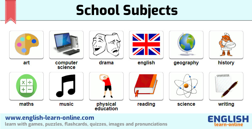 school subjects vocabulary image