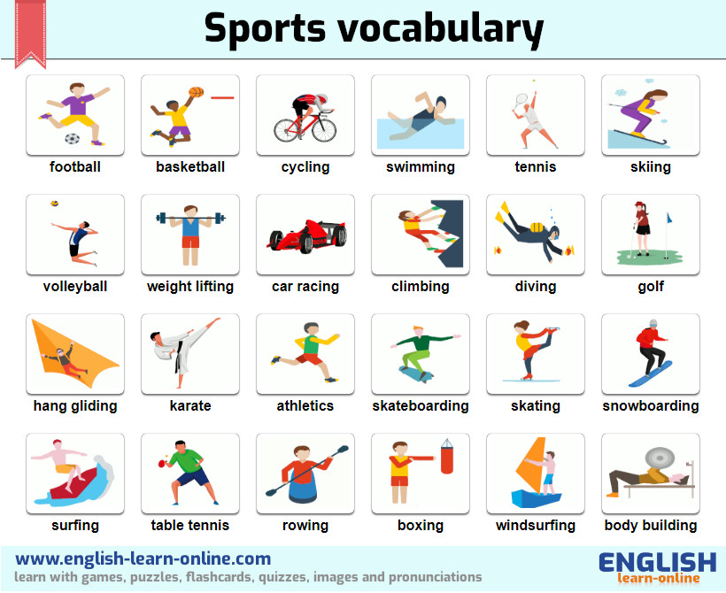 sport types vocabulary image