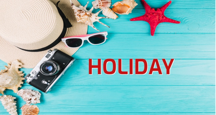 holiday vocabulary in English