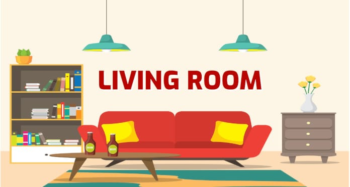 living room vocabulary in English
