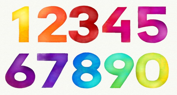 numbers vocabulary in English