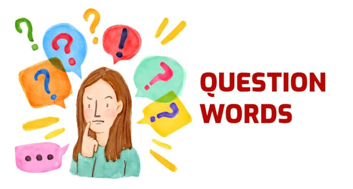 questions words vocabulary in English